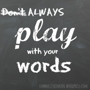 Play with words