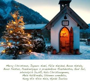 Merry Christmas little chapel frohe-weihnachten